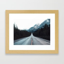 Highway Mountains Framed Art Print