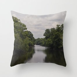 Slow Jungle River Down South Throw Pillow