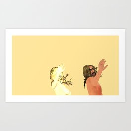Crazy Couple high five Art Print