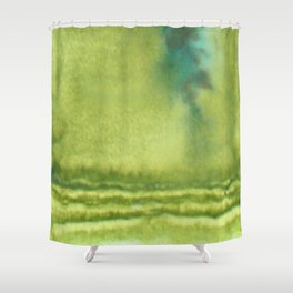Mossy Cliffs Shower Curtain