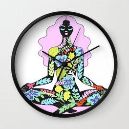 flower meditation Wall Clock