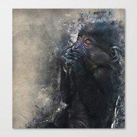 gorilla Canvas Prints featuring Gorilla by jbjart