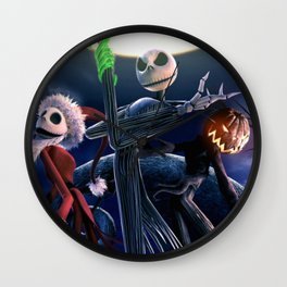 Skellington Christmas Wall Clock