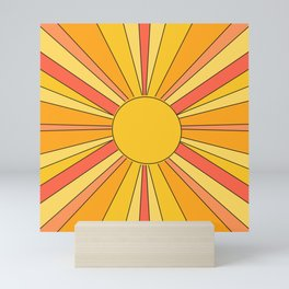 Sun rays Mini Art Print
