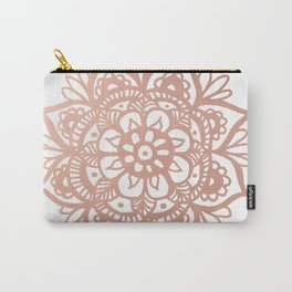 Rose Gold Mandala Carry-All Pouch
