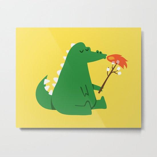 Dragon and Marshmallow Metal Print