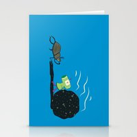 katamari Stationery Cards featuring Dung Roller Katamari by Hoborobo