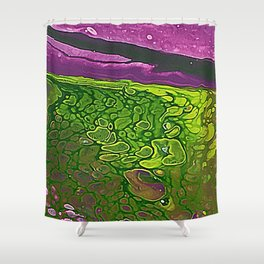 Green Cells Shower Curtain
