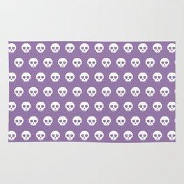 Pixel Skulls - Purple Rug