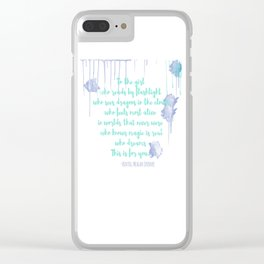 TO HER Clear iPhone Case