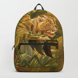 "Henri Rousseau ""Tiger in a Tropical Storm (Surprised!)"", 1891 Backpack"