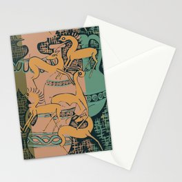 Ancient Greek Terracotta with Leaping Horses & Antelopes by Danae Anastasiou Stationery Cards