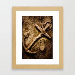 Stone Anchor Framed Art Print