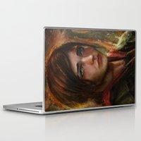 ellie goulding Laptop & iPad Skins featuring Ellie by Nicole M Ales
