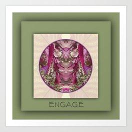 Engage Manifestation Mandala No. 7 Art Print