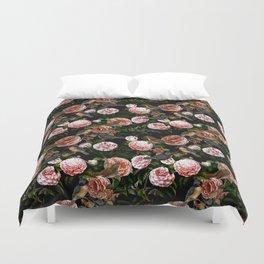 Vintage & Shabby Chic - Blush Camellia & Kingfishers Duvet Cover