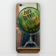 Let's Travel the World Together iPhone & iPod Skin
