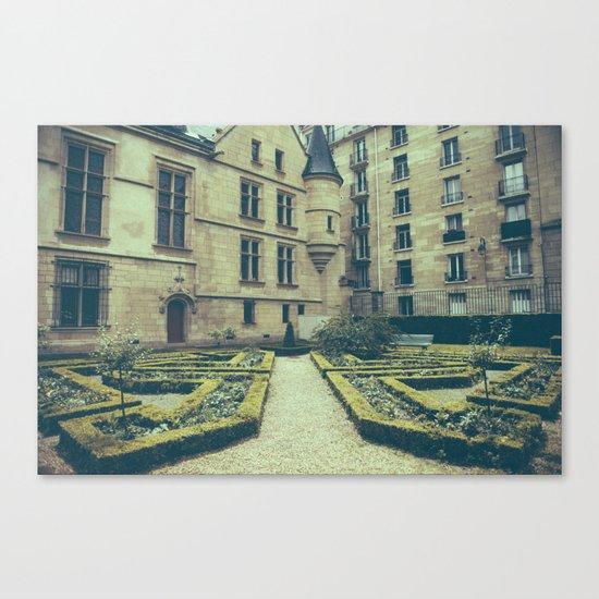 French Garden Maze IV Canvas Print