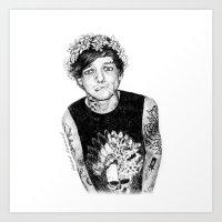 Punk!louis in a daisy crown Art Print