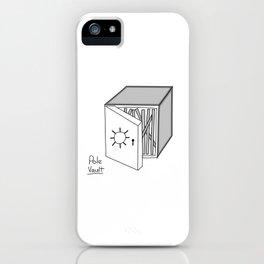 Pole vault iPhone Case
