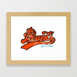 The Blunts Classic Orange Framed Art Print