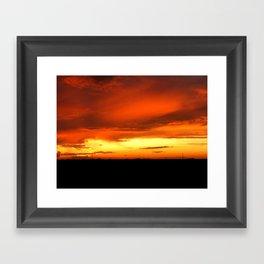 Sunset Over The Fields Framed Art Print