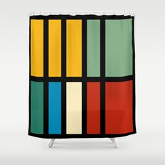 Abstract composition 23 Shower Curtain