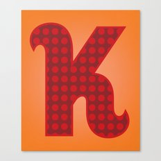 Alphabet K Canvas Print