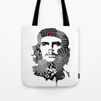 che Tote Bags featuring CHE by Rebecca Bear