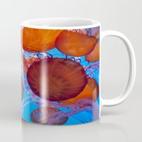 jelly fish Mugs featuring Jelly Fish by Shannon McCullough-Wight