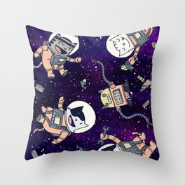 CatStronauts Throw Pillow