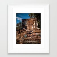 striped Framed Art Prints featuring Striped by Josh Lohmeyer