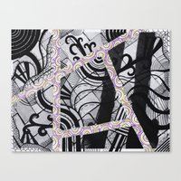 brain waves Canvas Prints featuring Brain Waves by Kaitlin Andesign