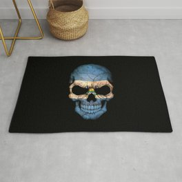 Dark Skull with Flag of El Salvador Rug