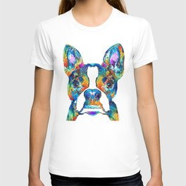 Colorful Boston Terrier Dog Pop Art - Sharon Cummings T-shirt