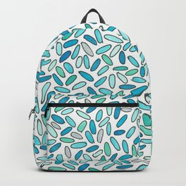 Blue, Aqua, Green and Silver Confetti Pattern Backpack