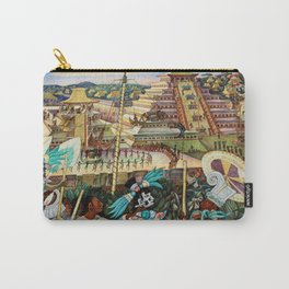 The Totonac Civilization or the Jaguar People in Veracruz, Palacio Nacional Mexico by Diego Rivera Carry-All Pouch