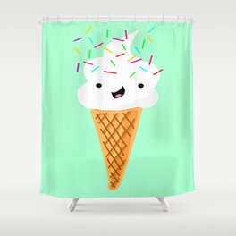 Happiness Is Sprinkles On Your Ice Cream Shower Curtain