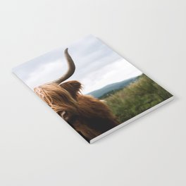 Scottish Highland Cattle in Scotland Portrait II Notebook