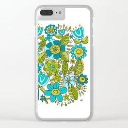 Botanical Doodles Clear iPhone Case