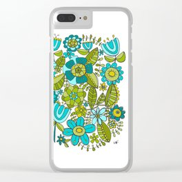 Botanical Doodles Clear iPhone Case