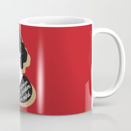 There Is No Gate - Virginia Woolf - Red Coffee Mug