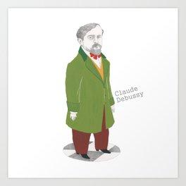 Claude Debussy Art Print