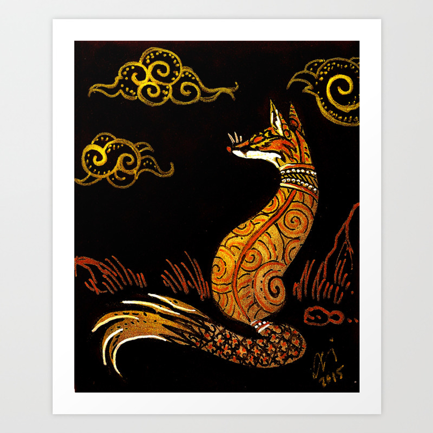 There are no foxes in thailand art print by culpeofox society6