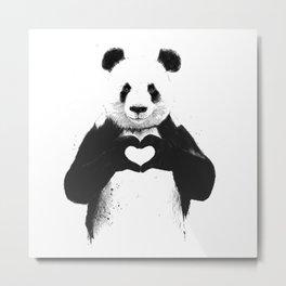 save panda Metal Print