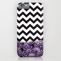 Purple Flower Chevron iPhone 6s Slim Case