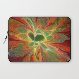 With a lot of Red, Abstract Art Laptop Sleeve