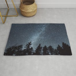 Milky Way in the Woods | Nature and Landscape Photography Rug