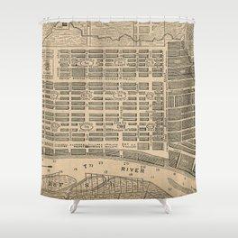 Vintage Map of Savannah Georgia (1818) Shower Curtain