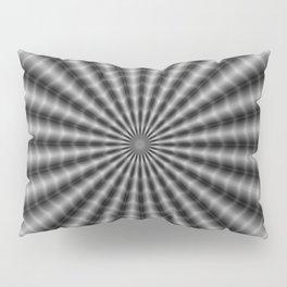 Rippling Rays in Monochrome Pillow Sham